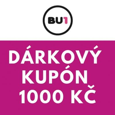 Dárkový poukaz / kupón na 1000 Kč v e-shopu bu1.cz