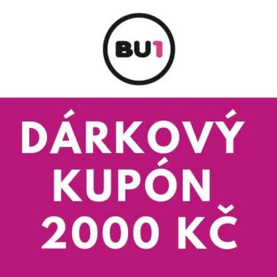 Dárkový poukaz / kupón na 2000 Kč v e-shopu bu1.cz