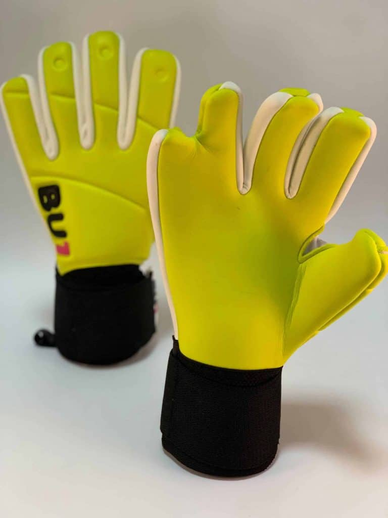 BU1 Lime zlomeny prst brankarske rukavice