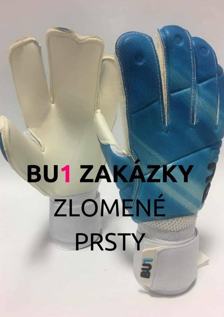 BU1 Blue zlomeny prst brankarske rukavice nahled