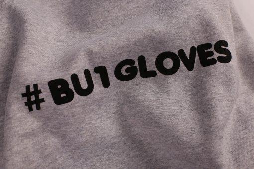 BU1 mikina šedá #BU1GLOVES