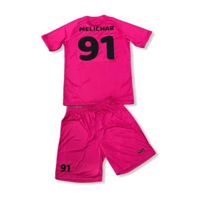 Potištěný dres a trenýrky BU1 růžové