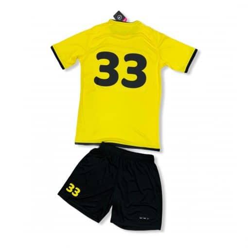 Potištěný dres a trenýrky BU1 žluté