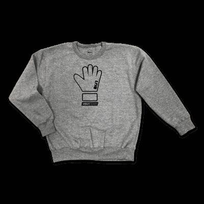 BU1 mikina šedá rukavice