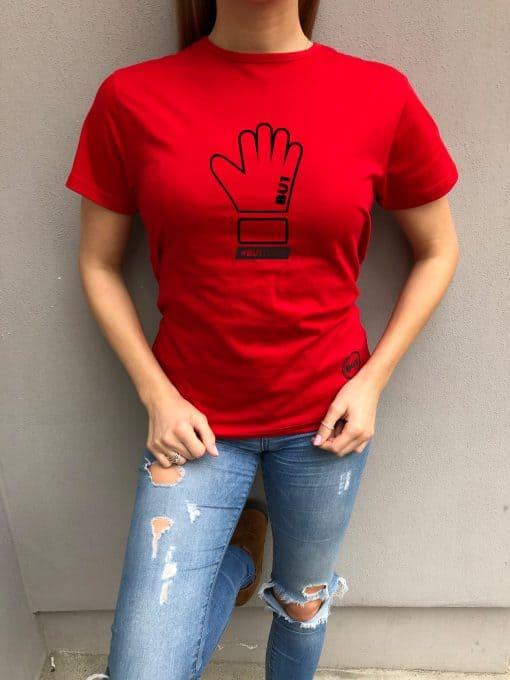 BU1 tričko červené rukavice dámské