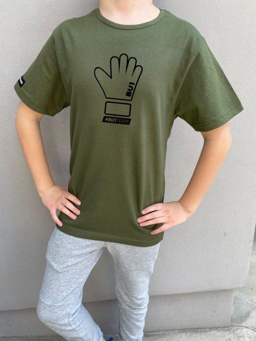 BU1 tričko zelené s rukavicí dětské