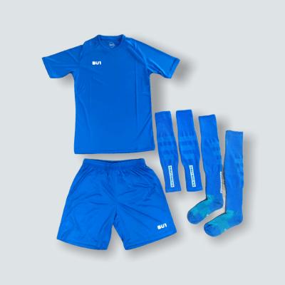 BU1 set dres trenýrky štulpny modrý