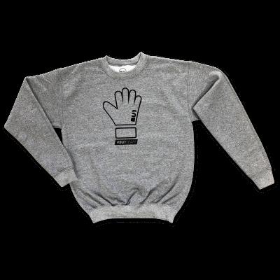 BU1 mikina šedá rukavice dětská