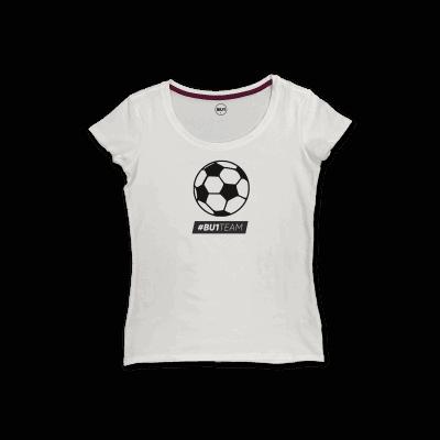 BU1 tričko bílé míč dámské