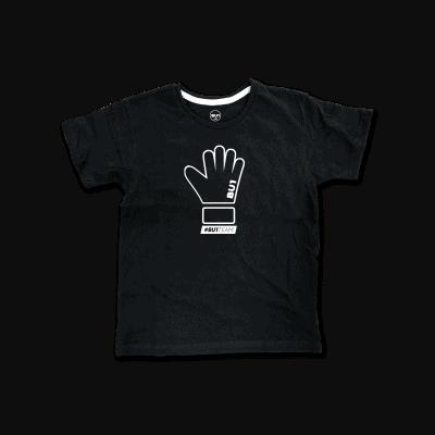 BU1 tričko černé rukavice dětské