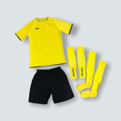 BU1 set dres trenýrky štulpny žlutý