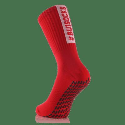 BU1 ponožky červené protiskluzové silikon